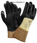 Ansell handschoen Nitrasafe 28-329, palm nitril gecoat, zwart op een gele voering