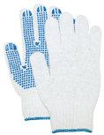 Rond gebreide handschoen met PVC nop, dikke kwaliteit