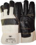 Meubellederen handschoen met palmversterking en gesorteerde donkere kleuren