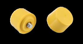 Verwisselbare kop 35mm zacht,geel