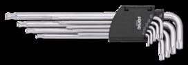 Stiftsleutelset tx, extra lang met kogelkop 9-dlg