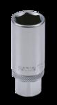 Bougiedop 3/8``, met rubberen ring 16mm